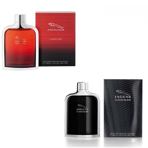 Jaguar Classic Red For Men EDT 100ml. +Jaguar Classic Black For Men EDT 100ml. (พร้อมกล่อง)