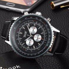 ขาย ซื้อ Jargar 003 นาฬิกาข้อมือผู้ชาย ระบบกลไกแบบออโตเมติก สไตส์คลาสสิกวินเทจ หรูหรา สายหนังสีดำ หน้าปัดสีดำ