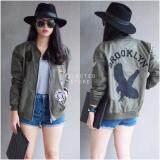 ราคา เสื้อแจ็คเก็ตสีเขียวทหาร Brooklyn Army Jacket เป็นต้นฉบับ Oct 19Fashion