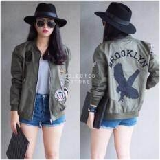 ส่วนลด สินค้า เสื้อแจ็คเก็ตสีเขียวทหาร Brooklyn Army Jacket