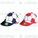 ราคา Juju หมวกแก๊ปกันแดด รูป Football แพค 2 ชิ้น สีแดง ดำ