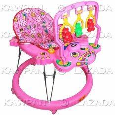 K Baby รถหัดเดินหน้าลูกหมี โมบายของเล่น ดนตรี สีชมพู เป็นต้นฉบับ