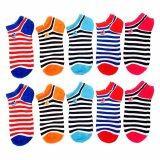 ราคา K Baby ถุงเท้าหุ้มข้อสำหรับผู้หญิง Rainbow แพ็ค คู่10 5สี เป็นต้นฉบับ K Baby