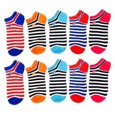 ขาย K Baby ถุงเท้าหุ้มข้อสำหรับผู้หญิง Rainbow แพ็ค คู่10 5สี ออนไลน์