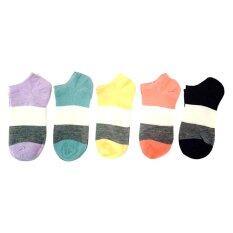 ราคา ราคาถูกที่สุด K Baby ถุงเท้าหุ้มข้อสำหรับผู้หญิง สีพอสส์ แพ็ค คู่5