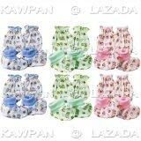 ขาย ซื้อ K Baby ถุงมือถุงเท้า เด็กอ่อนแรกเกิด 3เดือน ลายกระจาย จำนวน 6 ชุด ฟ้า ชมพู เขียว ชลบุรี
