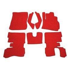 ราคา K Rubber พรมปูพื้นเข้ารูป สำหรับ Mitsubishi Mirage ลายกระดุม ชุด 7 ชิ้น สีแดง K Rubber