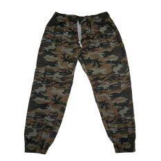 กางเกงขายาวชาย หญิง แบบขาจ้ำ ลายทหาร ถูก