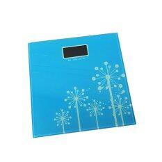 ซื้อ Kaidee เครื่องชั่งน้ำหนัก กระจก Tempered Glass จอ Lcd Natural Design Blue ถูก