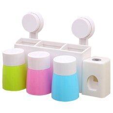ส่วนลด สินค้า Kakuki เครื่องบีบยาสีฟันอัตโนมัติระบบสุญญากาศ พร้อมแก้วน้ำแปลงฟัน