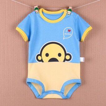 Kalawa เสื้อเด็ก ชุดเด็กเล็ก 8 เดือน ถึง 16 เดือน รุ่น UD ลาย ลิงจ๋อเจี้ยกๆ