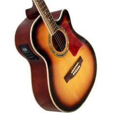 โปรโมชั่น Kenshiro Guitar กีต้าร์โปร่งไฟฟ้า Eq มีจูนเนอร์ในตัว รุ่น Kz I Sunburst Kenshiro