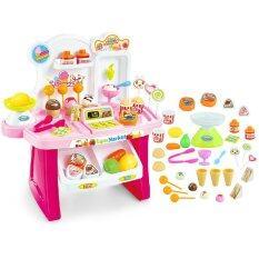 ของเล่นเด็ก Mini Market ร้านขายไอศครีม รุ่น 668 24 สีชมพู ใน ไทย