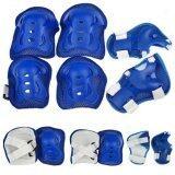 ราคา Kid Sport Protection อุปกรณ์ป้องกันการล้ม สำหรับเด็ก สนับเข่า มือ ข้อศอก 6 ชิ้น Blue ใหม่