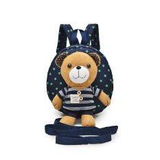 ราคา Kid Toddler Walking Safety Harness With Cute Bear Blue Stripe Backpack 5 Variations For Boys And Girls
