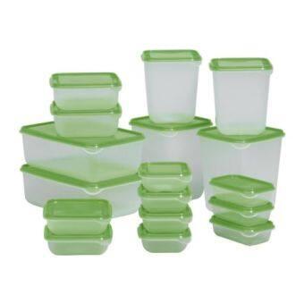 Kidsmile ชุดกล่องบรรจุอาหาร 17 ชิ้น (สีเขียว)