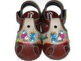 ราคา Kimba รองเท้าเด็กชายหนังด้านหน้า2สี ลายม้าลายและกวาง Brown Kimba ไทย