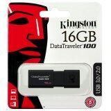 Kingston แฟลชไดรฟ์ 16Gb Datatraveler Dt100G3 Usb 3 สีดำ เป็นต้นฉบับ