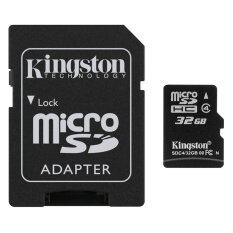 ทบทวน Kingston Memory Micro Sd Card Class 4 32Gb With Adapter Kingston