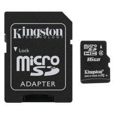 ขาย Kingston Micro Sd Card Class 4 16Gb With Adapter Black ผู้ค้าส่ง