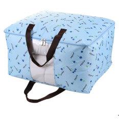 โปรโมชั่น กล่องผ้าเก็บของ กล่องใส่ผ้า กล่องอเนกประสงค์ Storage Box สีฟ้า