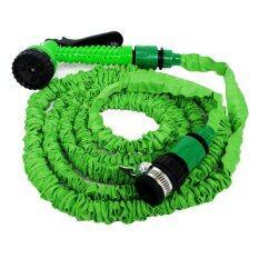 โปรโมชั่น Klass สายยางฉีดน้ำยืดได้ 3 เท่า พร้อมหัวล็อคก๊อกฉีดน้ำปรับได้ Magic Hose 7 เมตร สีเขียว