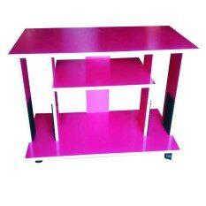 ซื้อ Kmp Furniture ชั้นไม้วางทีวี จอแบน รุ่น Tv Side 80 Cm สีชมพู ใหม่