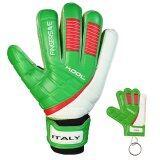 ขาย ซื้อ Kool ถุงมือ โกล์ว ฟุตบอล อิตาลี Football Goalkeeper Gloves Replique Italy Fingersave พร้อมพวงกุญแจ
