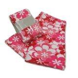 ส่วนลด Korea ผ้าห่มสำลีฟรีสพิมลาย ขนาด 50 X75 125X187Cm ลายดอกไม้ สีชมพู Korea