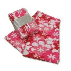 ซื้อ Korea ผ้าห่มสำลีฟรีสพิมลาย ขนาด 50 X75 125X187Cm ลายดอกไม้ สีชมพู Korea ออนไลน์