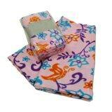 ขาย Korea ผ้าห่มสำลีฟรีสพิมลาย ขนาด 50 X75 125X187Cm ลายดอกไม้ สีชมพู ออนไลน์ ไทย