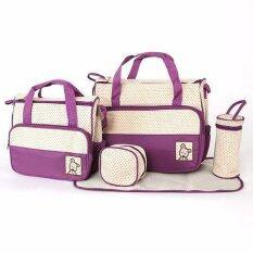 ขาย กระเป๋าใส่ขวดนมและสิ่งของ สีม่วง เซต 5 ชิ้น ใหม่