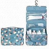 ซื้อ Yhl กระเป๋าจัดเก็บอุปกรณ์ในห้องน้ำ กระเป๋าแขวนในห้องน้ำ กระเป๋าเครื่องสำอาง กระเป๋าจัดระเบียบ กระเป๋าพับ กันน้ำ สำหรับ พกพา เดินทาง ท่องเที่ยว สีฟ้าลายดอก ออนไลน์