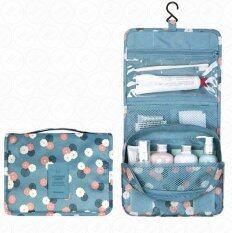 ขาย Yhl กระเป๋าจัดเก็บอุปกรณ์ในห้องน้ำ กระเป๋าแขวนในห้องน้ำ กระเป๋าเครื่องสำอาง กระเป๋าจัดระเบียบ กระเป๋าพับ กันน้ำ สำหรับ พกพา เดินทาง ท่องเที่ยว สีฟ้าลายดอก ใน Thailand