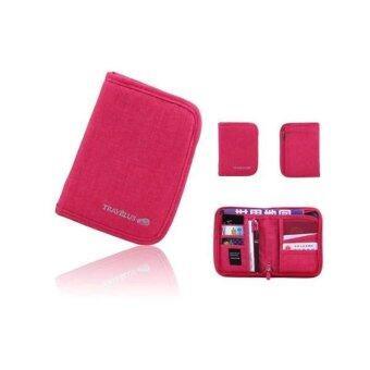 กระเป๋าจัดระเบียบเอกสารเดินทาง Passport Wallet (สีชมพู)