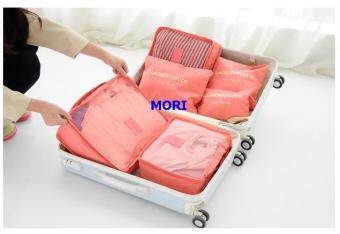 Mori กระเป๋าจัดระเบียบเสื้อผ้าสำหรับเดินทาง เซ็ท 6 ใบ Bag Organizer Set 6 pcs(ฺBright Orange / สีส้มแสด)