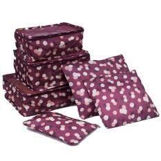 ส่วนลด Mori กระเป๋าจัดระเบียบเสื้อผ้าสำหรับเดินทาง เซ็ท 6 ใบ Bag Organizer Set 6 Pcs Red Multicolor ลายดอกไม้พื้นแดง กรุงเทพมหานคร