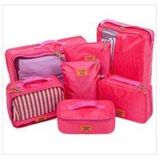 Mori กระเป๋าจัดระเบียบเสื้อผ้าสำหรับเดินทาง กระเป๋าจัดระเบียบ เซ็ท 7 ใบ Bag Organizer Set 7 Pcs Pink สีชมพู ใหม่ล่าสุด