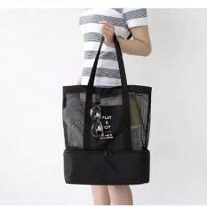 กระเป๋าเก็บความเย็น กระเป๋าเก็บอุณหภูมิ กระเป๋าเก็บนมแม่ ใบใหญ่จุใจ ดำ.