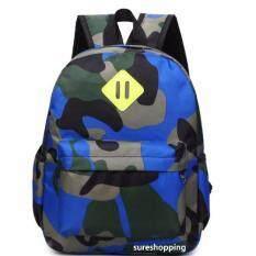ขาย กระเป๋าเป้เด็ก กระเป๋าเด็ก กระเป๋าสะพายหลังเด็ก กระเป๋าเด็ก เป้เด็ก ลายทหาร สีน้ำเงิน Sureshopping ออนไลน์