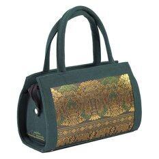 กระเป๋าถือคุณนาย ตราแพรไหม รหัส M145 Blue ถูก
