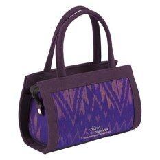 กระเป๋าถือคุณนาย ตราแพรไหม รหัส M146 Purple เป็นต้นฉบับ