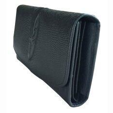 กระเป๋าถือยาวสุภาพสตรีลายหนังจรเข้ สีดำ Unbranded Generic ถูก ใน กรุงเทพมหานคร
