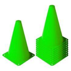 ราคา กรวย ซ้อมวิ่ง ซ้อมกีฬา ความสูง 20 ซม ชุด 10 อัน สีเขียว Sport Training Cone Unbranded Generic เป็นต้นฉบับ