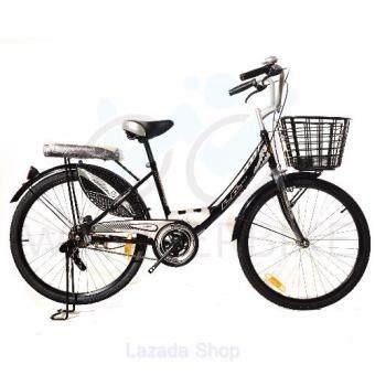 LA Bicycle จักรยาน รุ่น 20\ CITY RIDE สีดำ