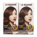 ราคา La Bourse Hair Color Cream ครีมเปลี่ยนสีผม ลาบูสส์ ปารีส No 5 35 สีน้ำตาลเข้มประกายทอง แพ็คคู่ราคาสุดคุ้ม ใหม่