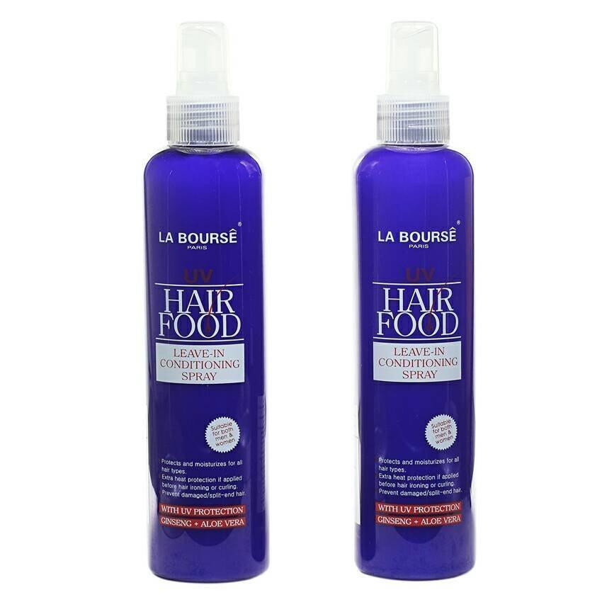 La Bourse UV Hair Food Leave-in Conditioning Spray with UV Protection Ginseng + Aloe Vera 250ml. (แพ็คคู่)
