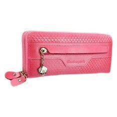 ซื้อ Lady Rewards กระเป๋าสตางค์หนังแท้ สำหรับสุภาพสตรี รุ่น Wl W602 Wl 007 สีชมพู ใหม่ล่าสุด