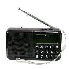 ซื้อ ลำโพงวิทยุ Am Fm ลำโพง Mp3 Usb Micro Sd Card รุ่นT 608 Black