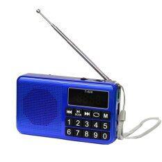 ขาย ซื้อ ออนไลน์ ลำโพงวิทยุ Am Fm ลำโพง Mp3 Usb Micro Sd Card รุ่นT 608 Blue